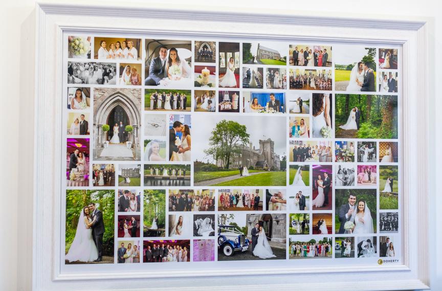 Framed Wedding Collage Designed