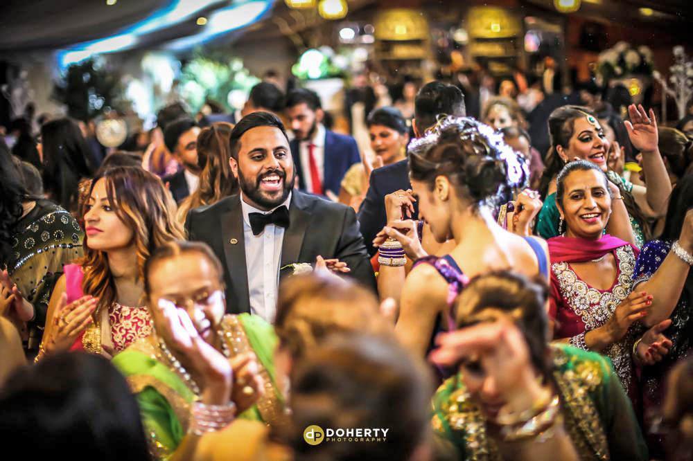 Asian wedding partying