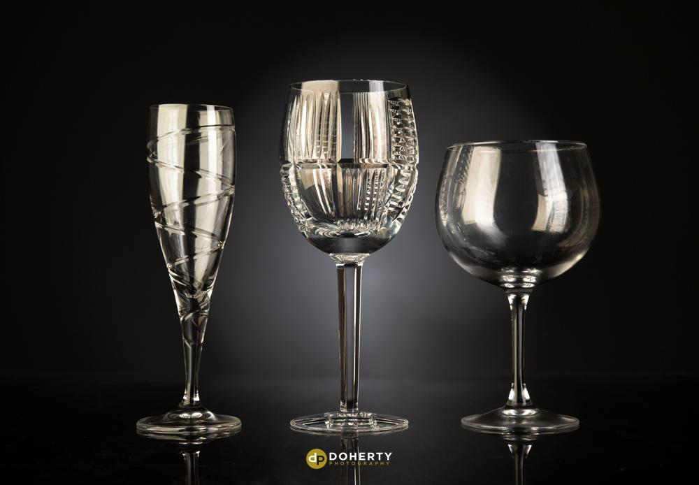 Product photography of glasses