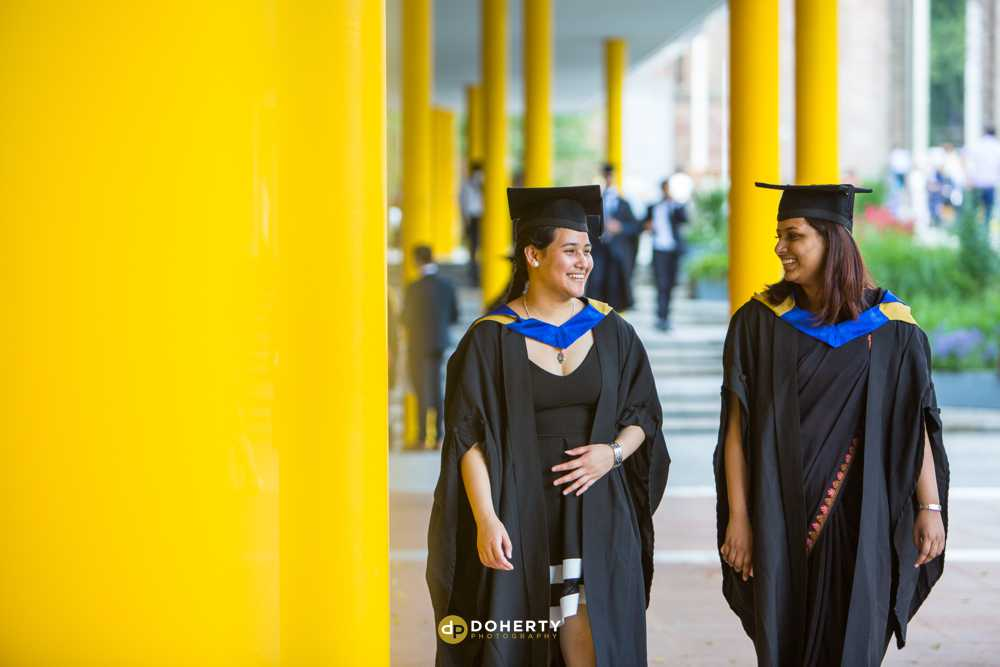 Students in Graduation gowns at Coventry University