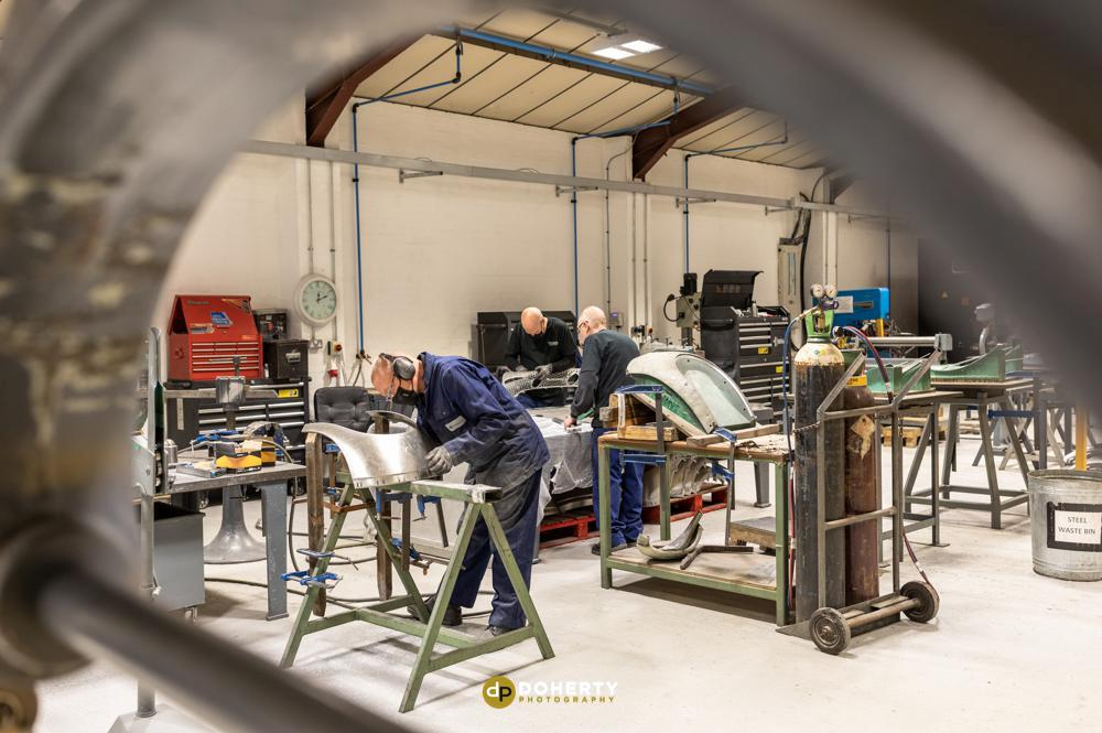Industrial workshop photography
