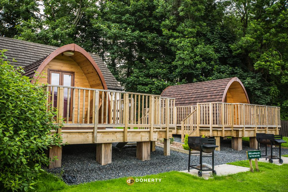 Photo of a lodge cabins in the peak district