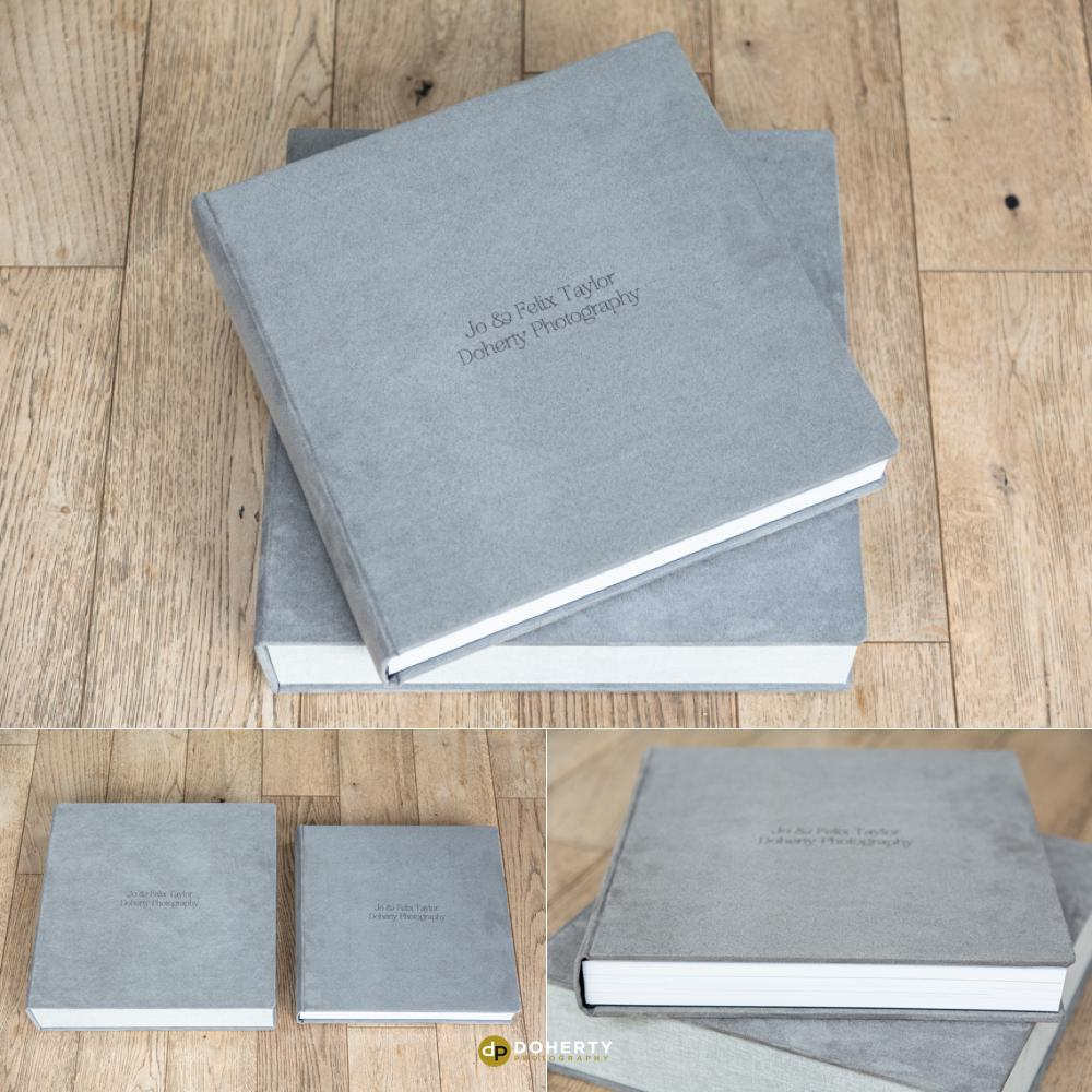 Grey Suede Wedding Album - Midlands