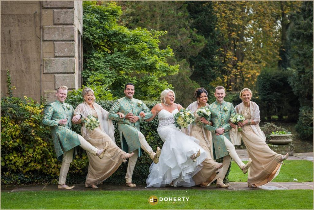 Fusion Wedding Photography - Bridal Party photo - Coombe Abbey
