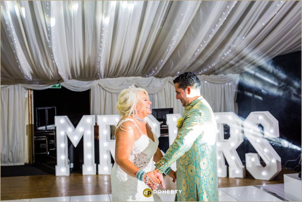 First dance at wedding at Coombe Abbey