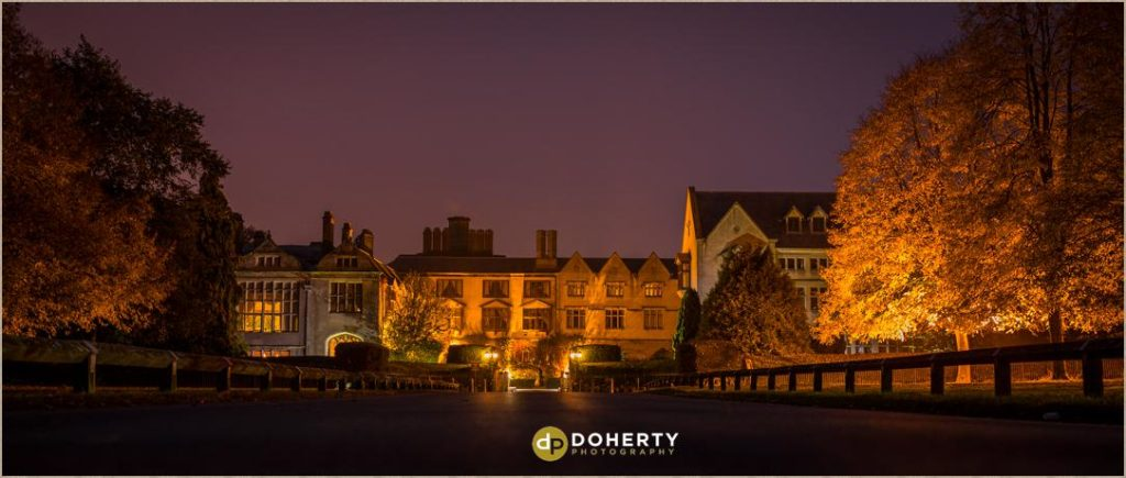 Coombe Abbey  venue at night