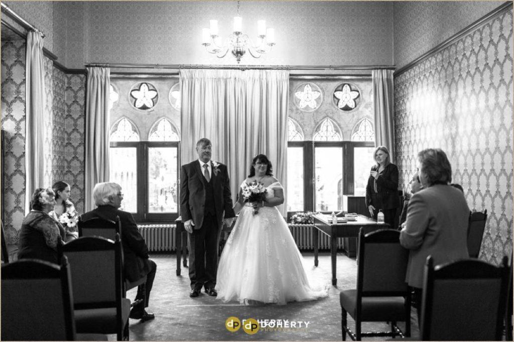 Bride and Groom at Northampton Guildhall Wedding