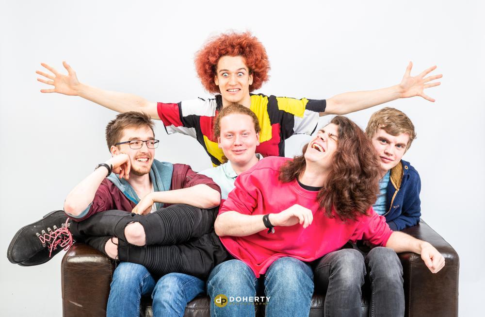 Studio Portrait of Group of lads