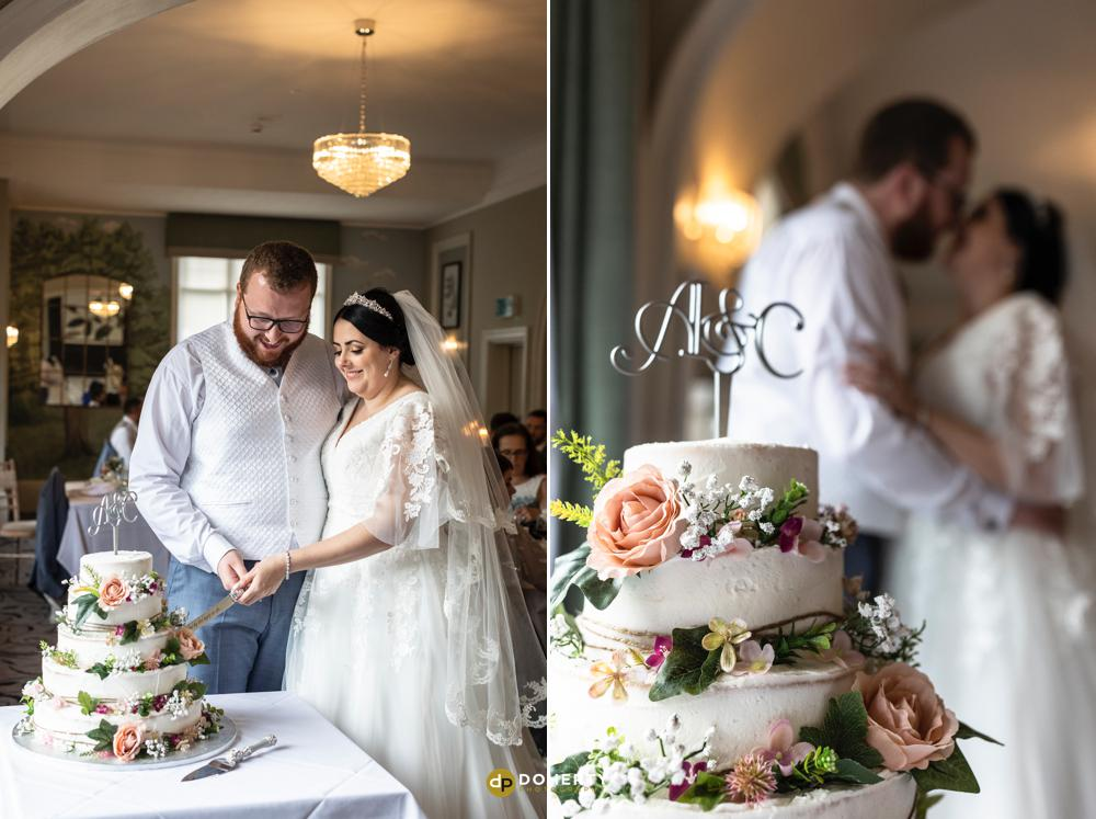 Wedding cake cutting - Laura Ashley Iliffe Hotel