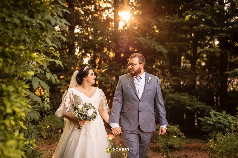 Sunset photos of bride and groom at Laura Ashley Iliffe Hotel