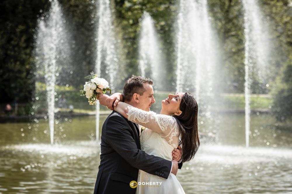 Jephson Gardens wedding portraits