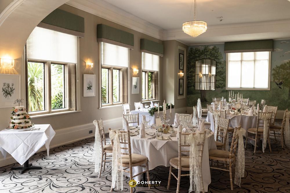 Wedding reception room at Laura Ashley Iliffe Hotel