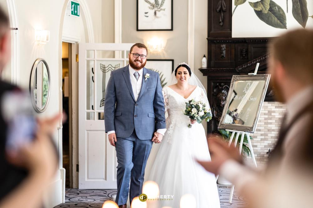 Entrance of bride and groom -Laura Ashley Iliffe Hotel
